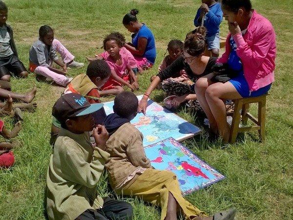 Una scuola all'aria aperta in Madagascar